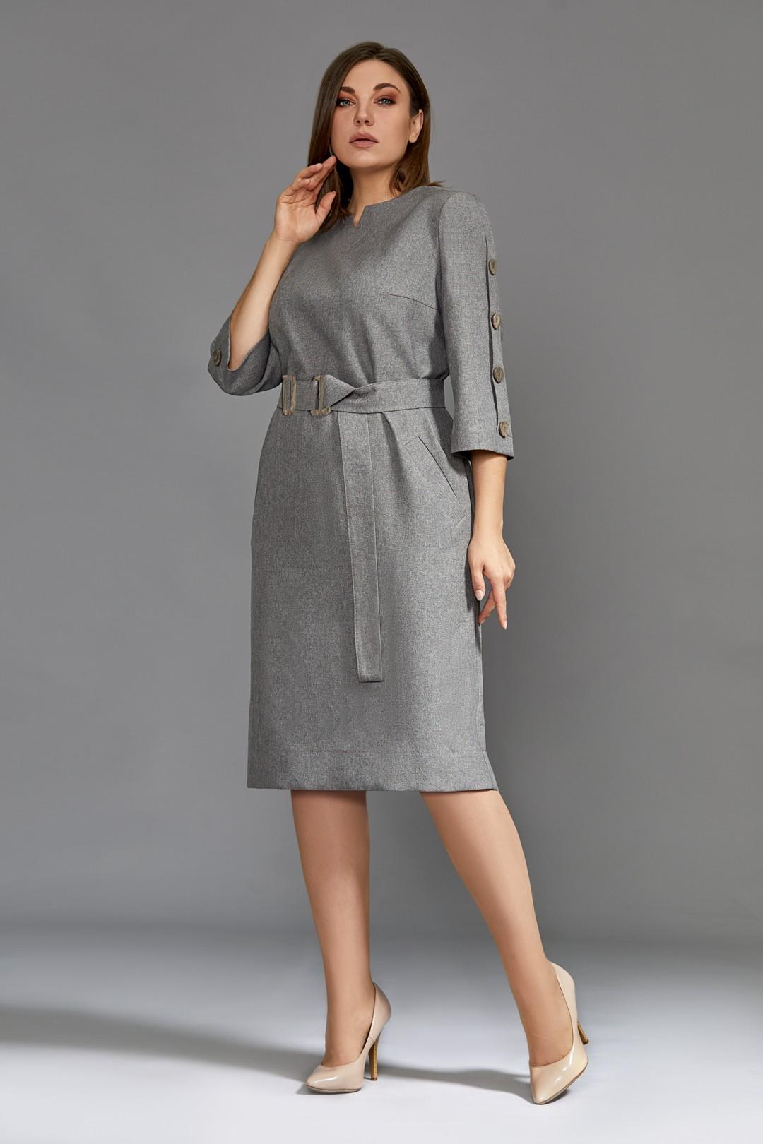 Платье Мублиз 611 серый