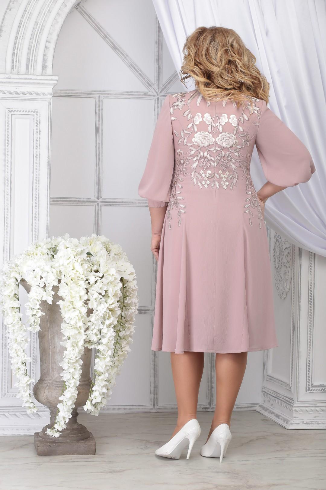 Платье Ninele 5822 пудра