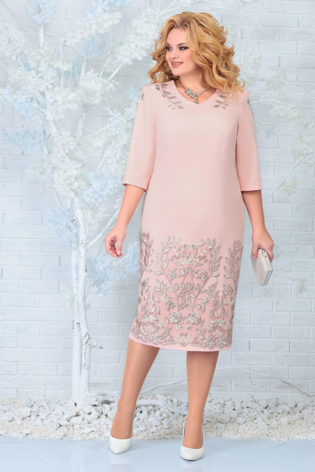 Платье Ninele 7332 пудра