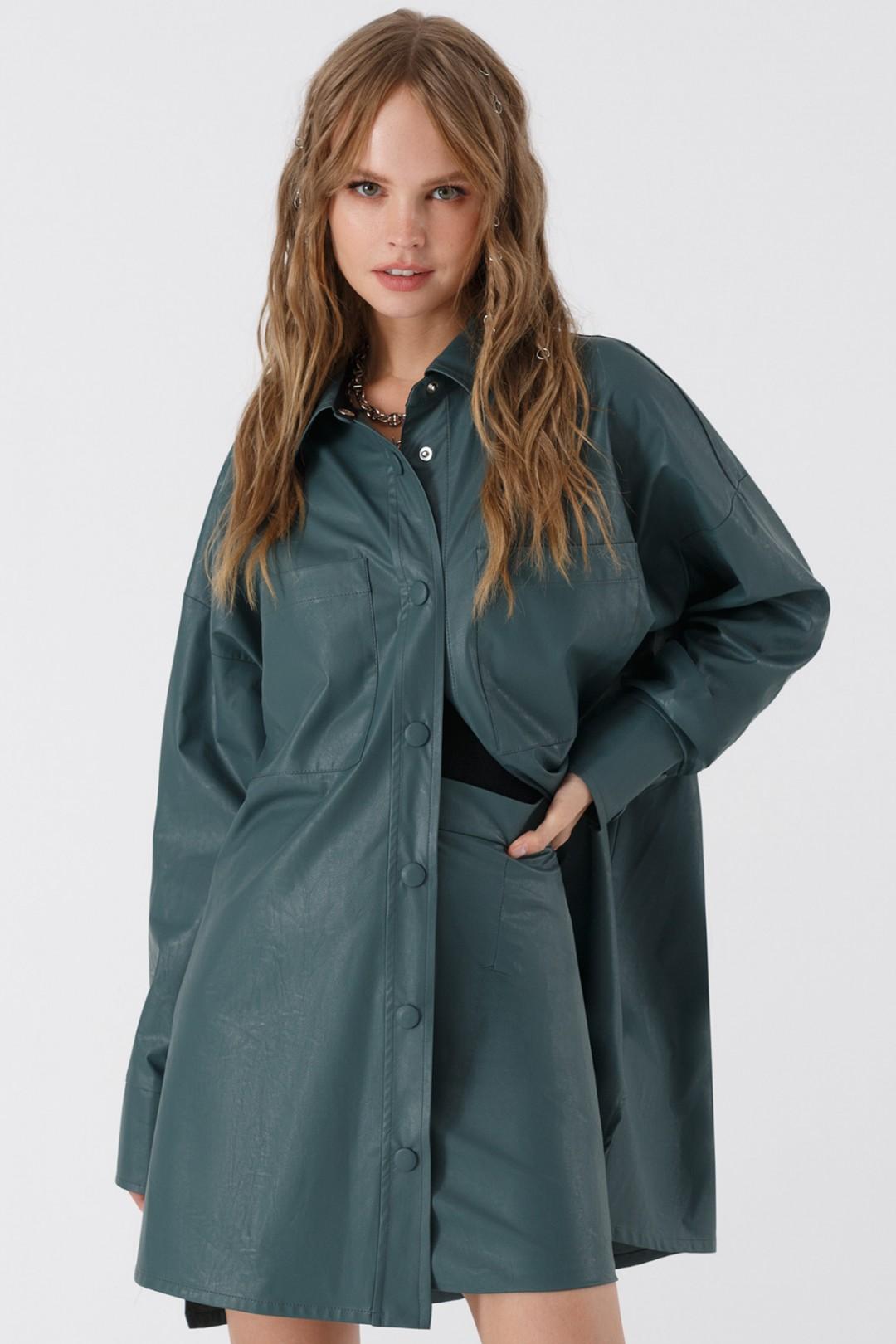 Рубашка Pirs 3396 серо-зеленый