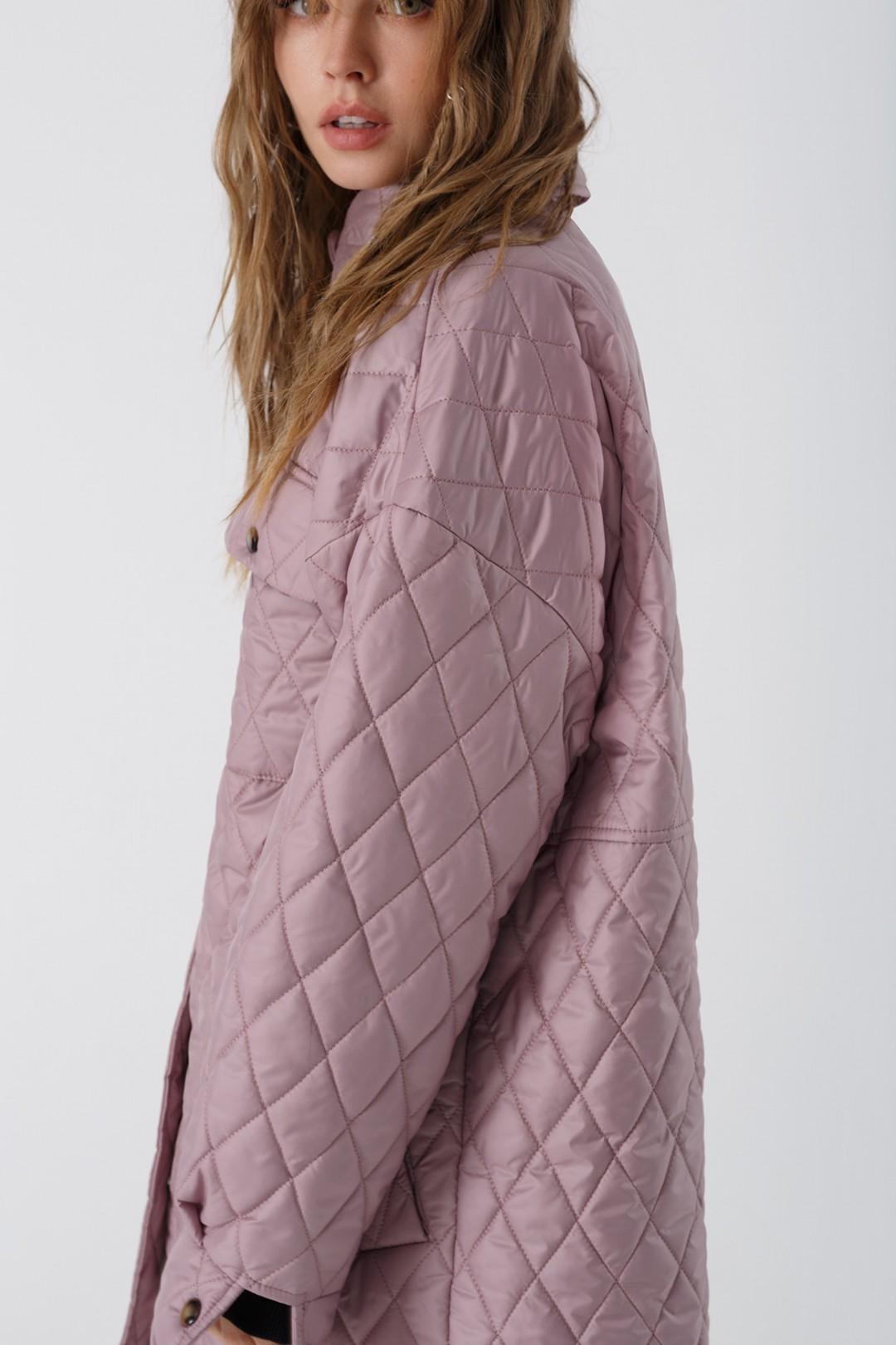 Полупальто Pirs 3430 розовый