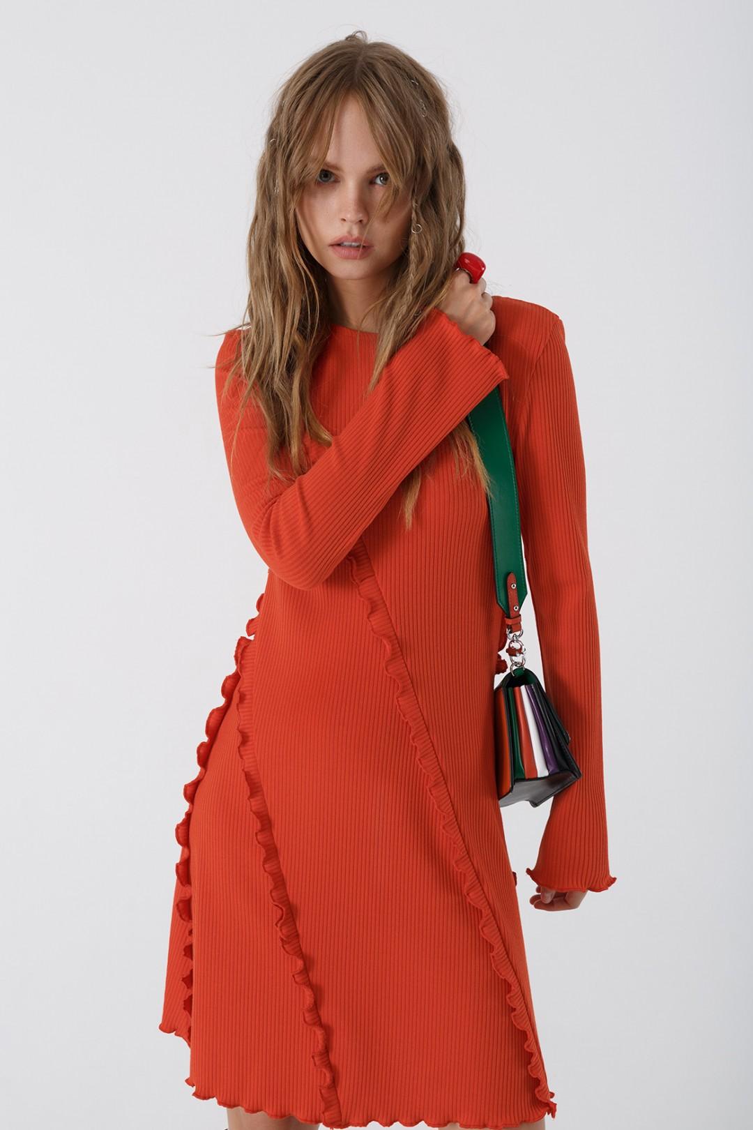 Мини-платье Pirs 3438 оранжевый