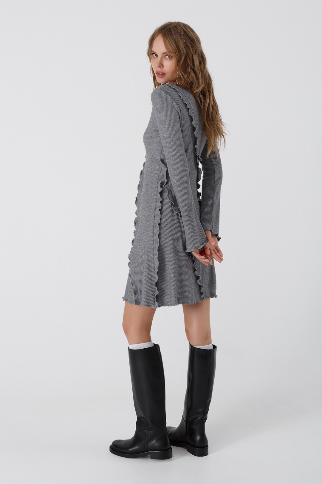 Мини-платье Pirs 3438 серый