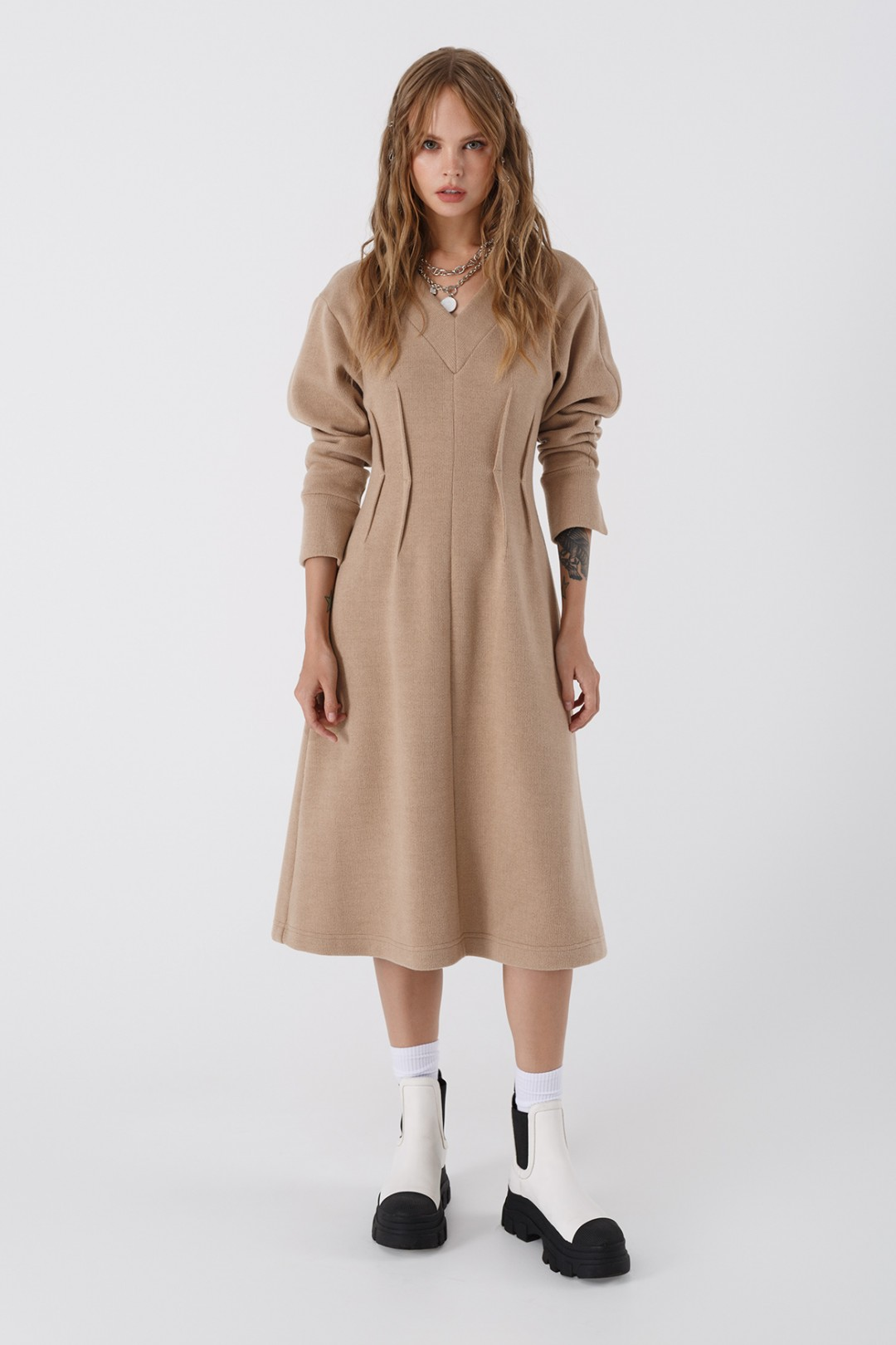 Платье Pirs 3442 бежевый