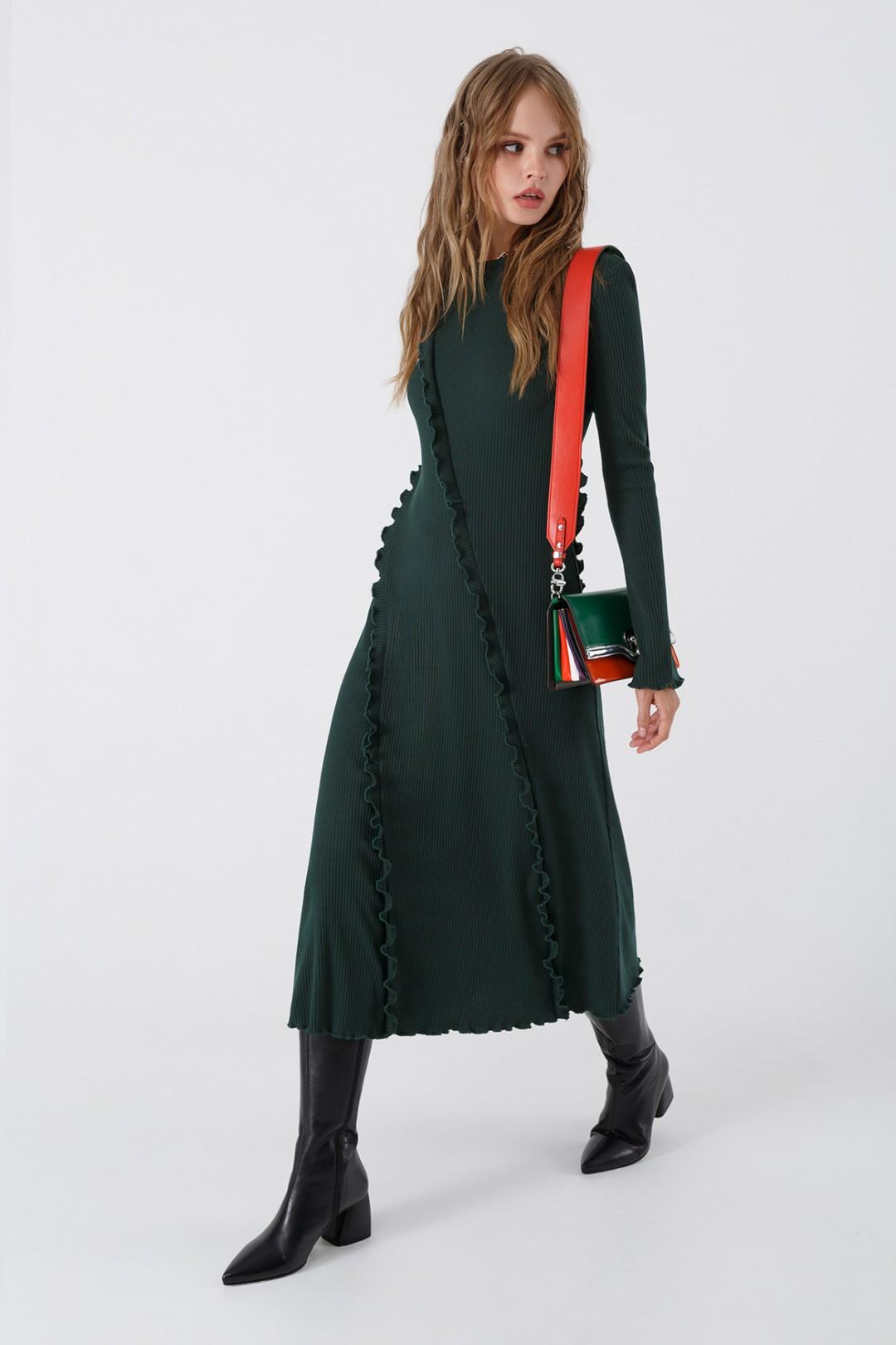 Платье Pirs 3445 изумрудный
