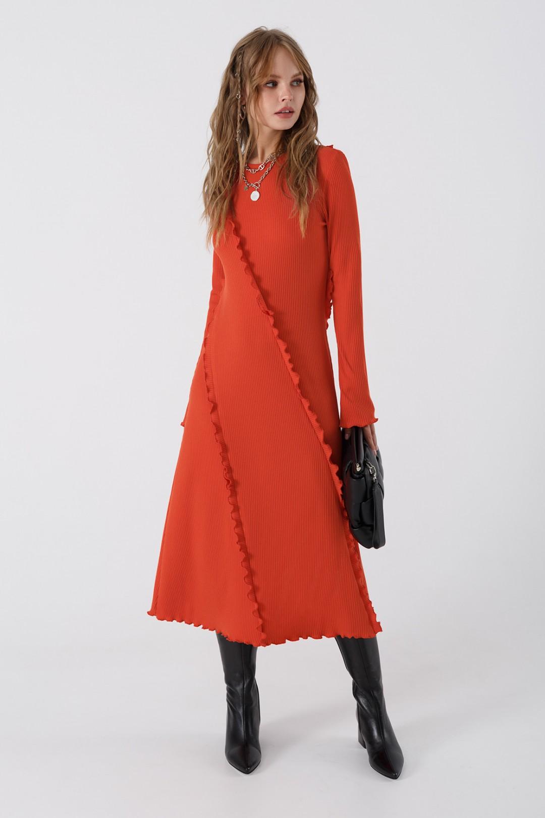 Платье Pirs 3445 оранжевый