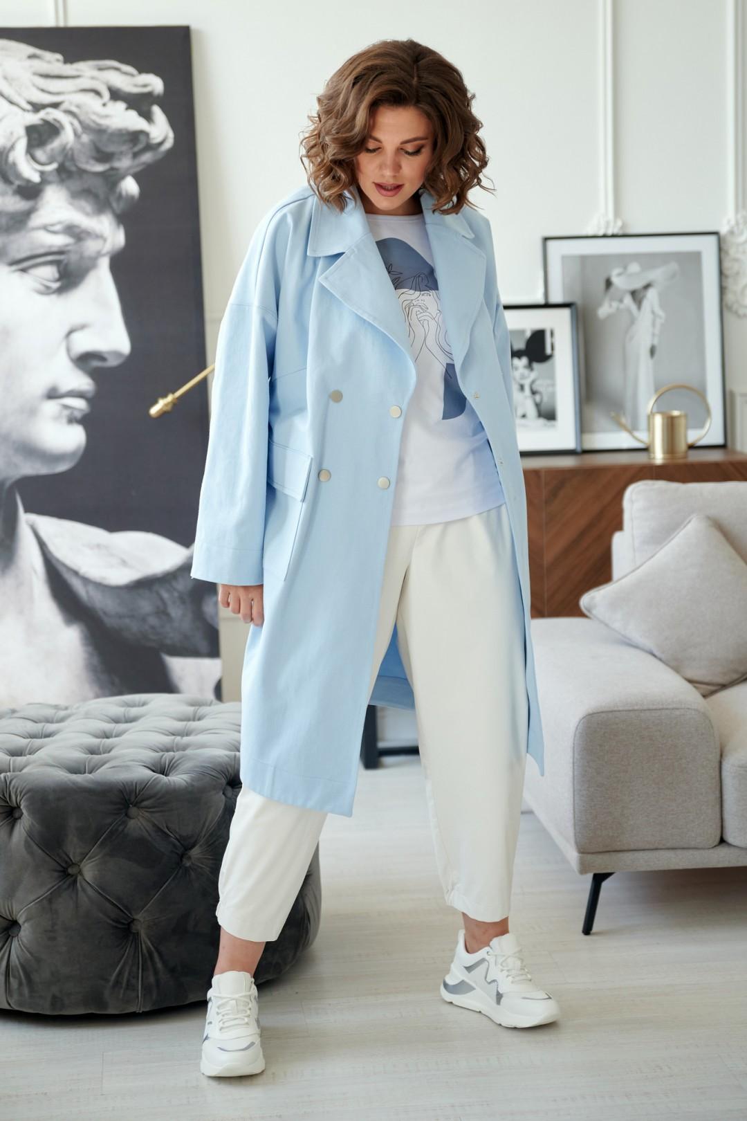 Пальто Rumoda 2020/2 серо-голубой