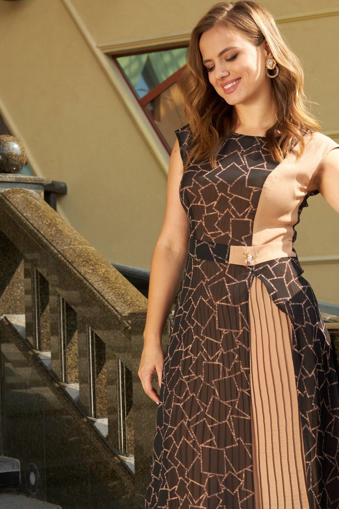 Платье SandyNa 13976 черный, геометрия