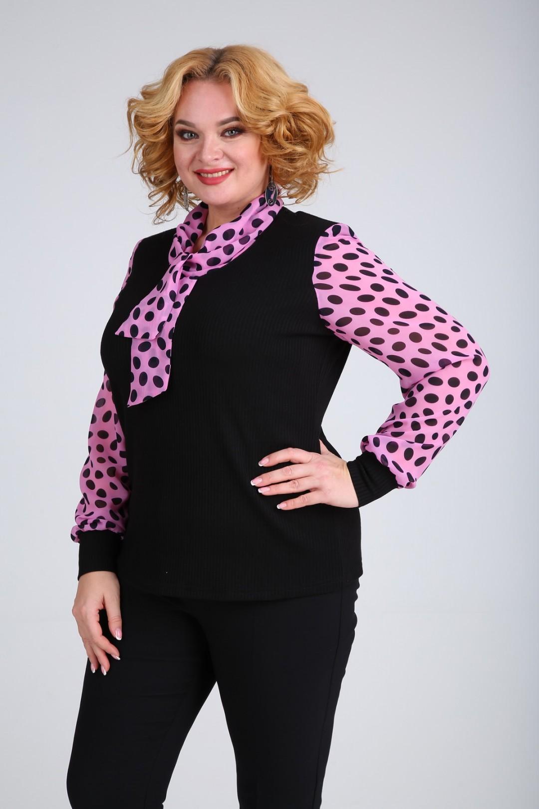 Блузка SOVITA 107 розовый в горох