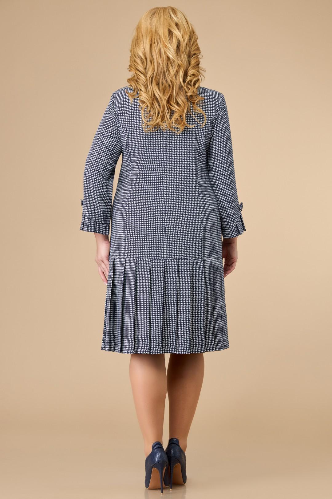 Платье Светлана-Стиль 1429.08 синий+узор