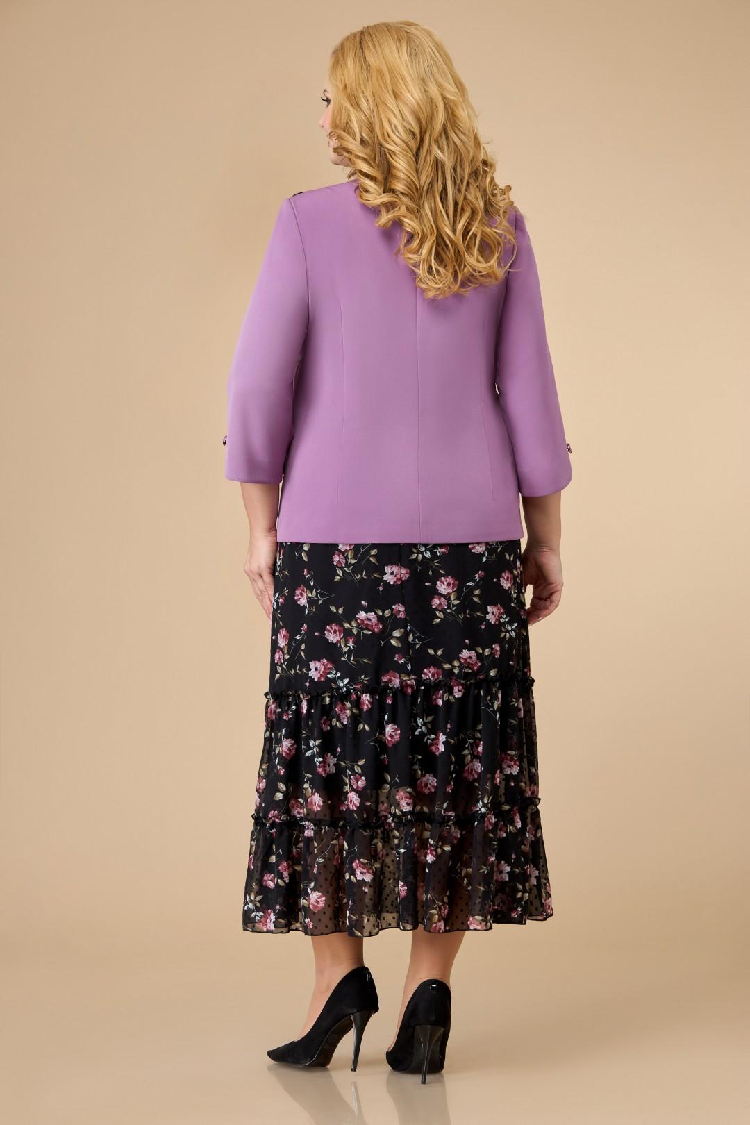Комплект Светлана-Стиль 1702 сиреневый+цветы