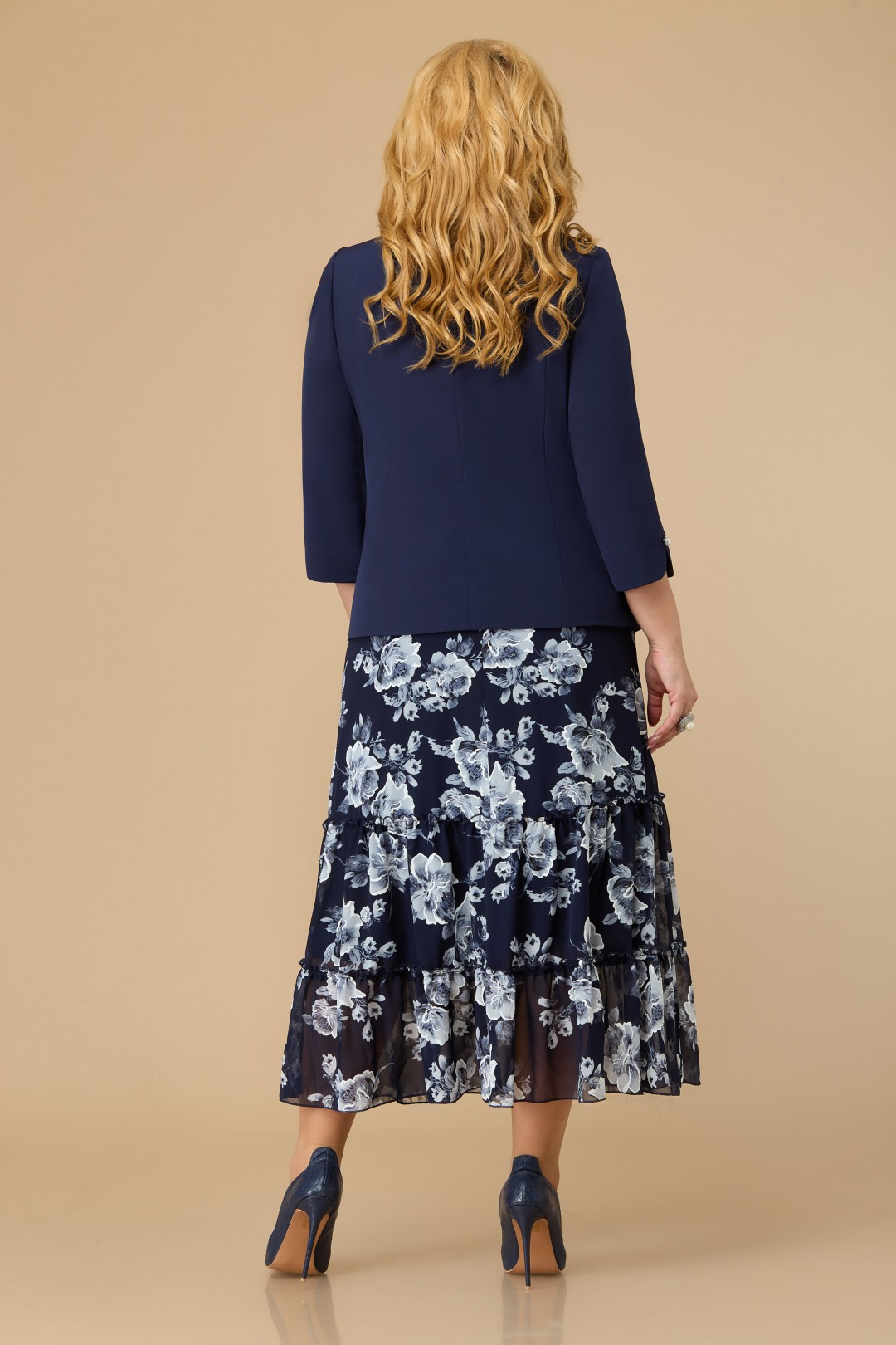 Комплект Светлана-Стиль 1702 синий+цветы