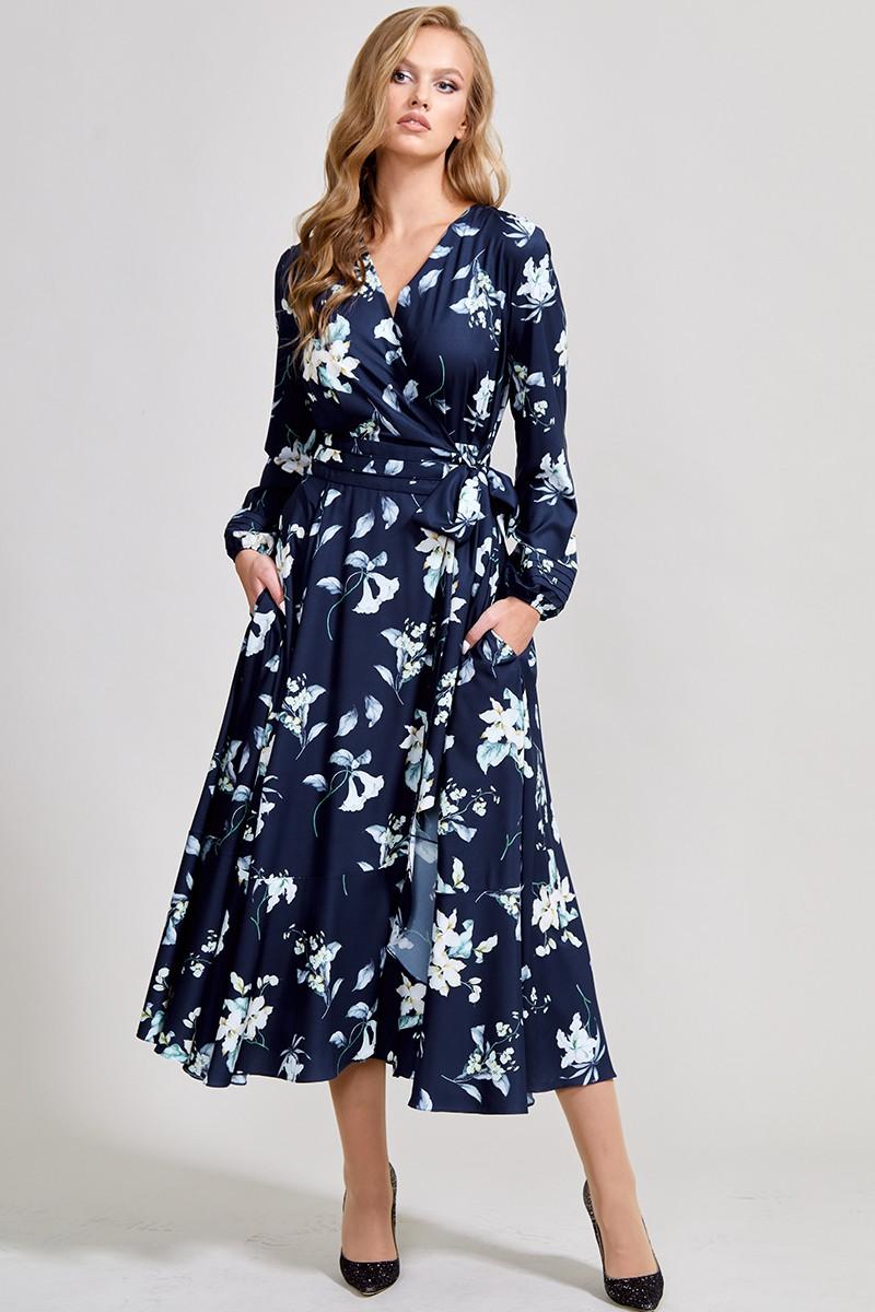 Платье ТЭФФИ-стиль 1417 сапфировый