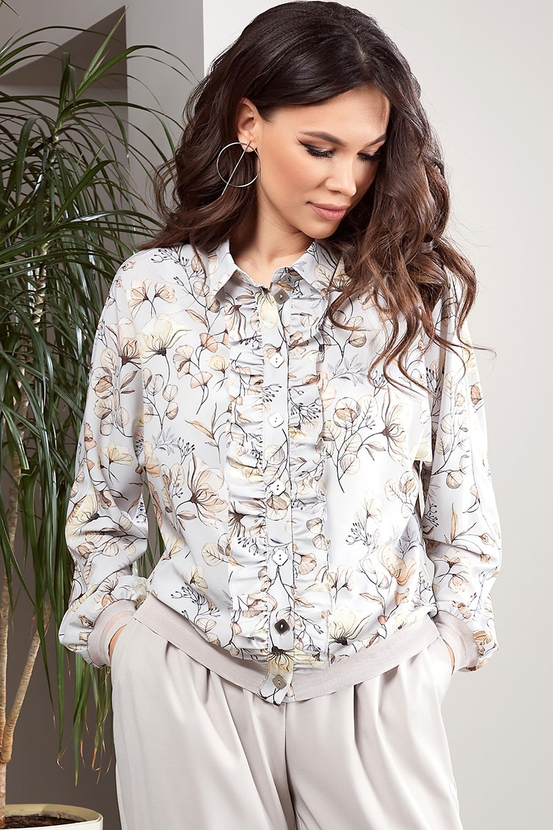 Блузка ТЭФФИ-стиль 1534 холодный серый