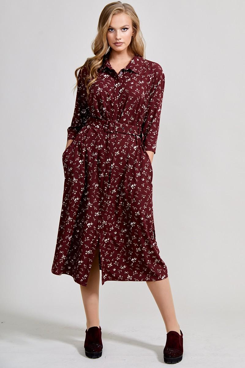 Платье ТЭФФИ-стиль 1586 бордовый