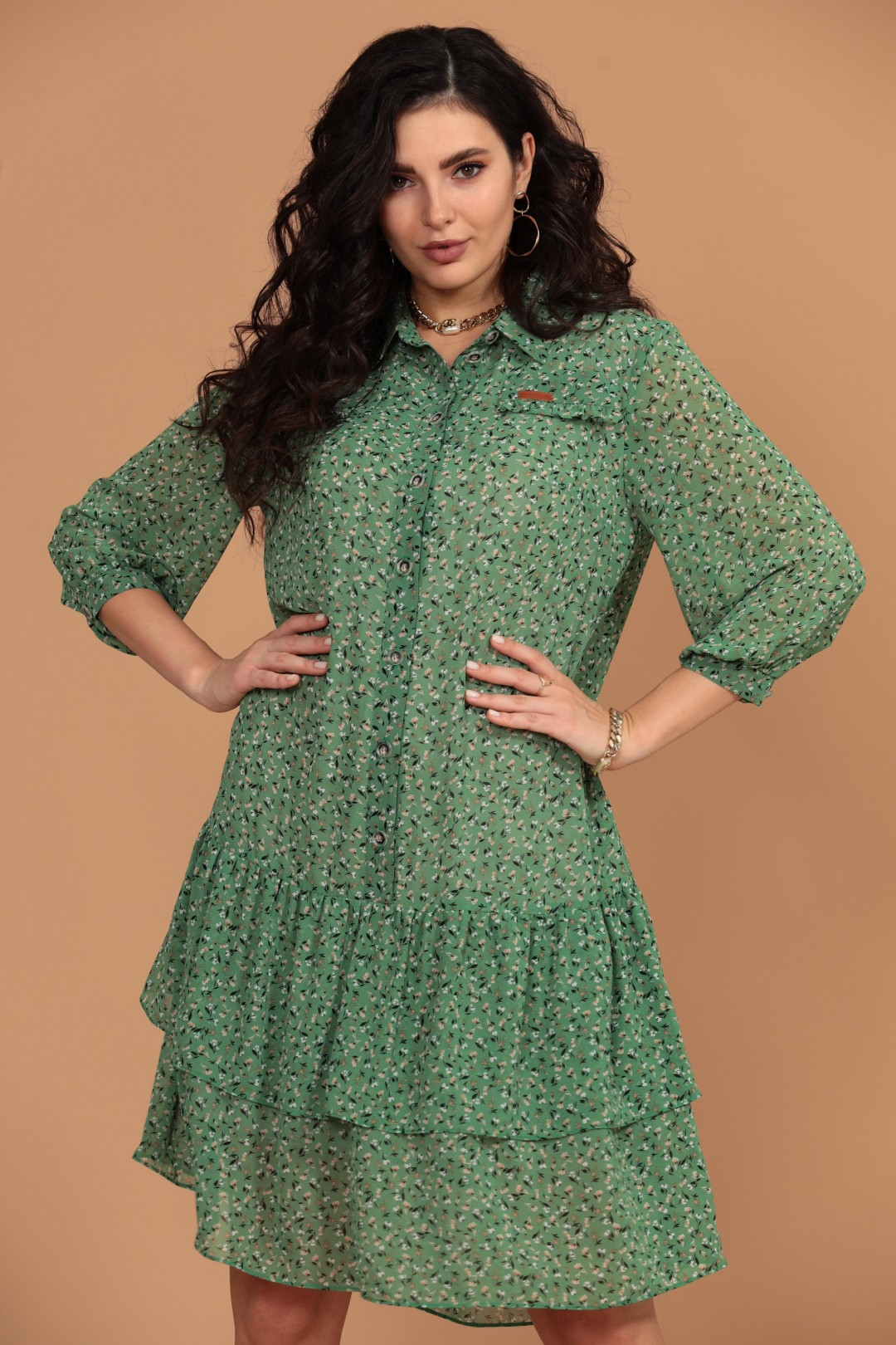 Платье Твой Имидж 1422 зеленый