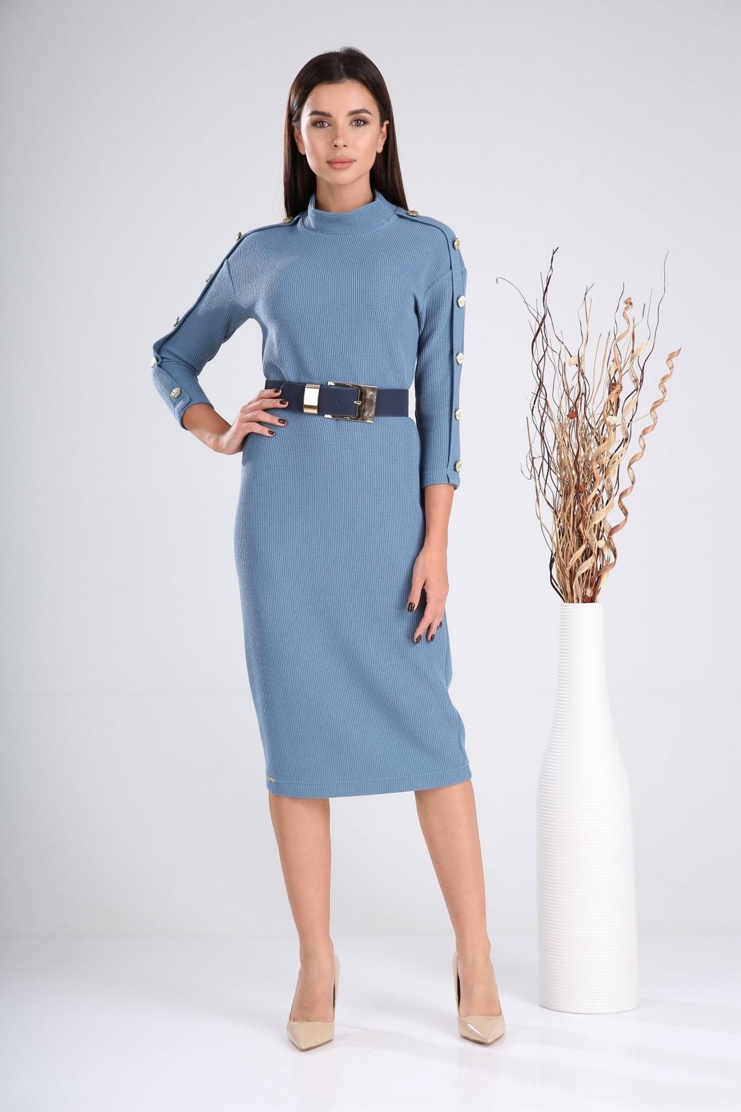 Платье Верита 2023 голубой