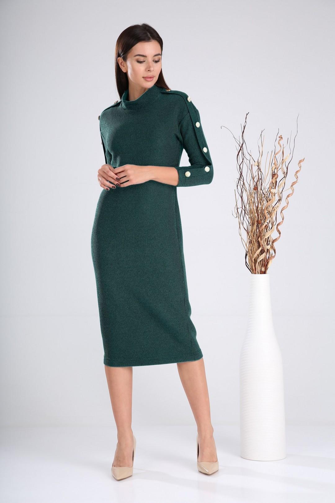 Платье Верита 2023 зеленый