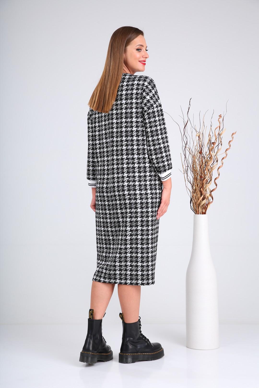 Платье Верита 2132 черный+белый