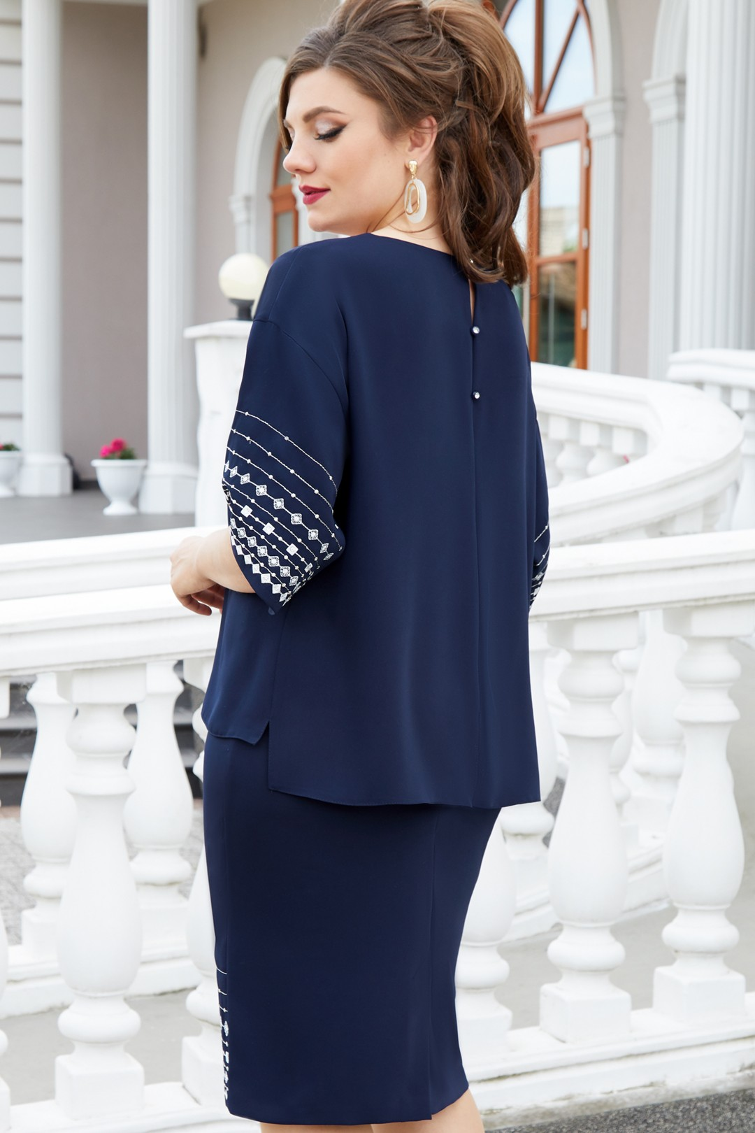 Платье Vittoria Queen 13043/2 темно-синий