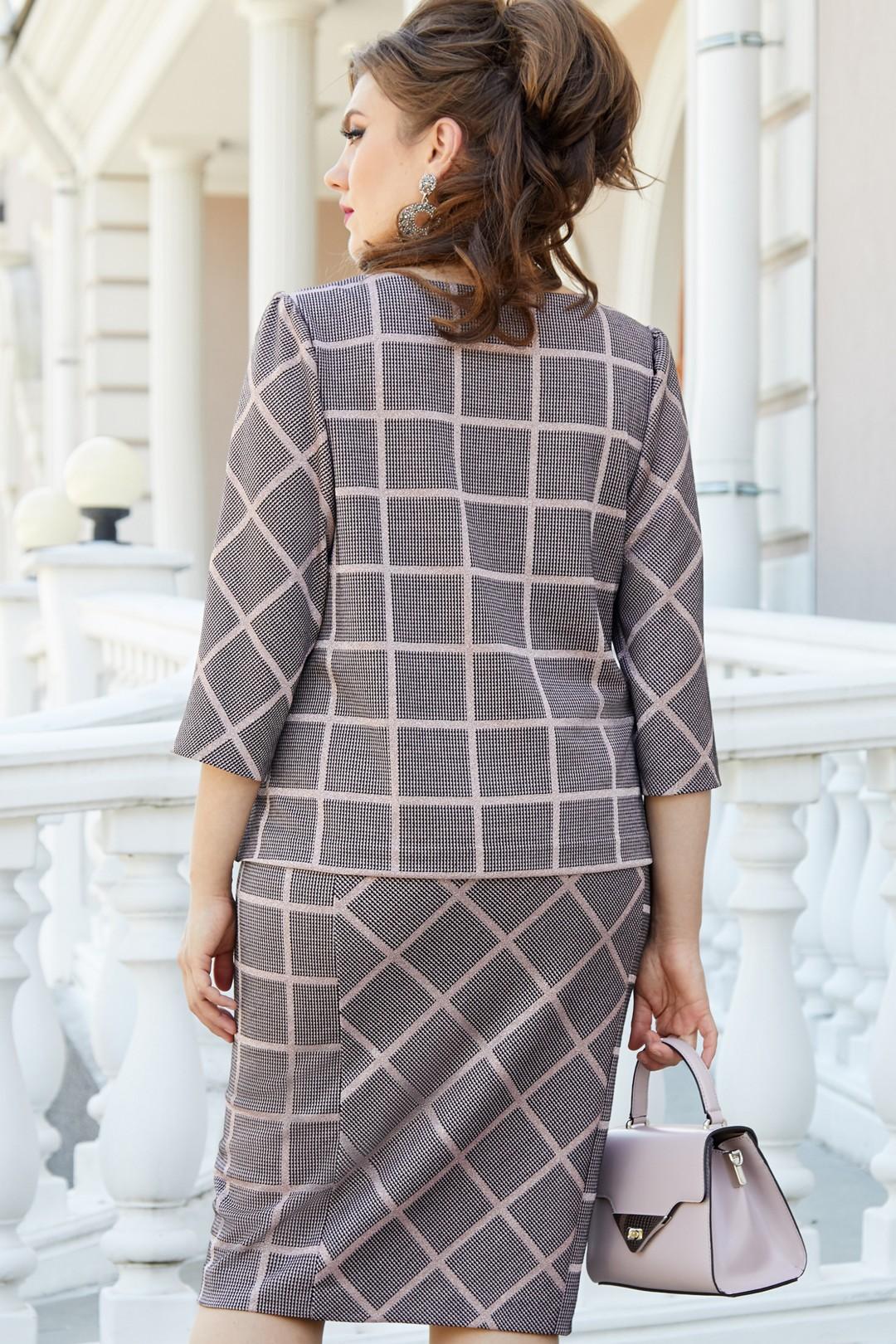 Платье Vittoria Queen 14503 серый/розовый