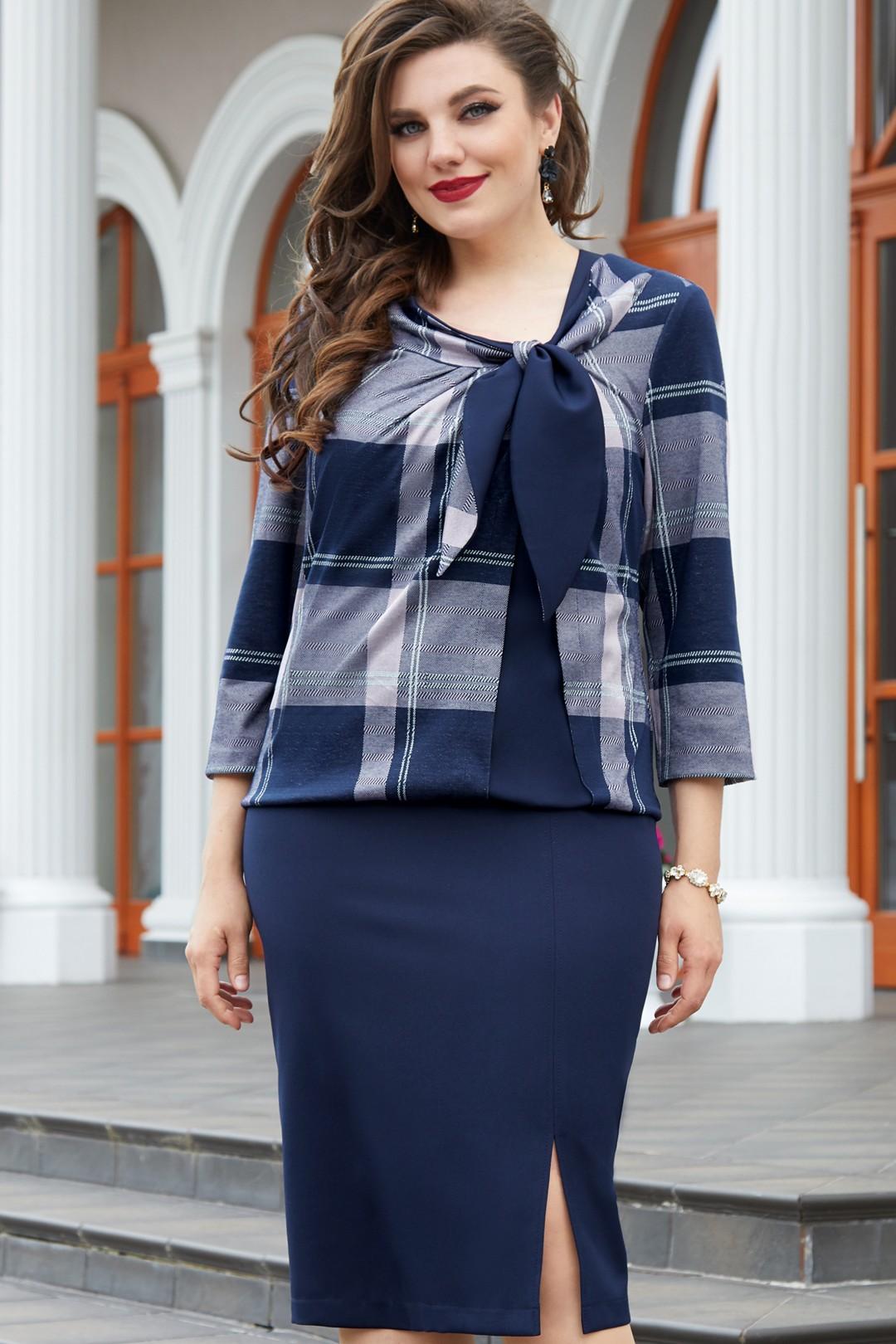 Платье Vittoria Queen 14693 темно-синий