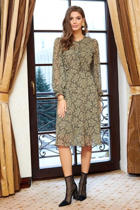 Платье Айзе 2350 оливковый