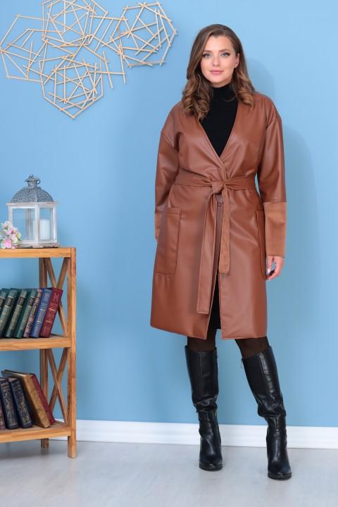 Пальто AnastasiaMAK 929  коричневый
