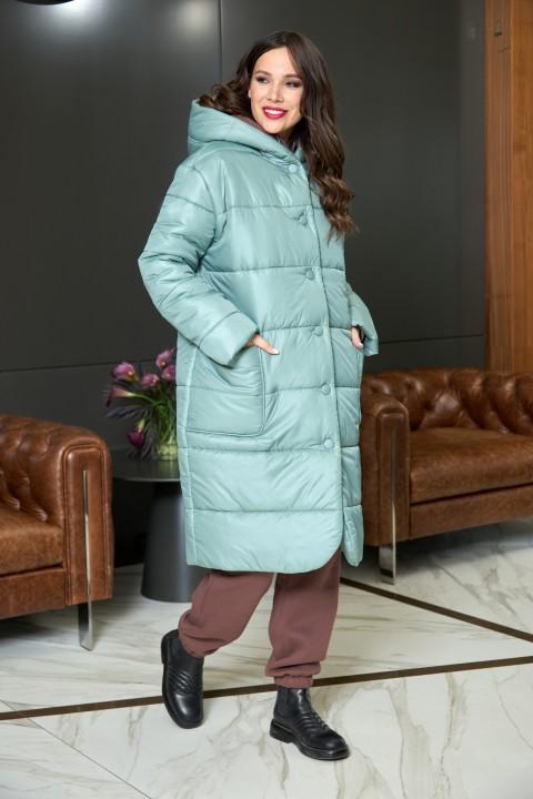 Пальто AnastasiaMAK 936 мята