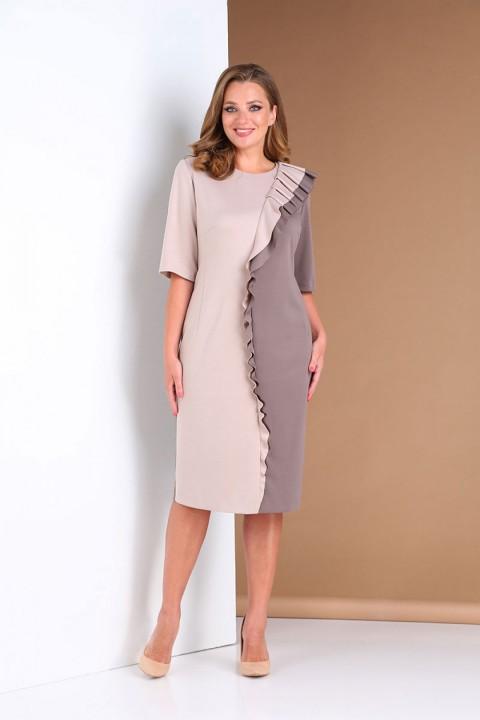 Платье AndreaStyle 0391 мокко