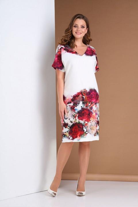 Платье AndreaStyle 0396 белый