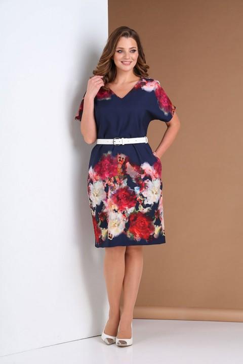 Платье AndreaStyle 0396 синий