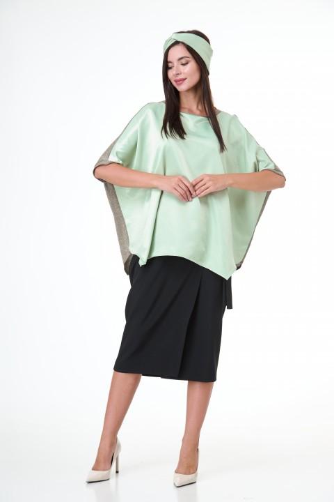 Блузка с повязкой Anelli 1102 салатовый