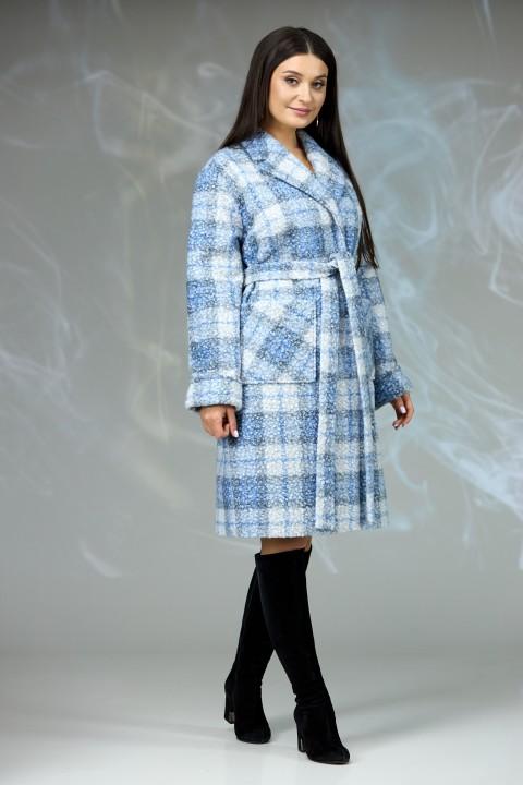 Пальто Angelina & Company 603с серая клетка