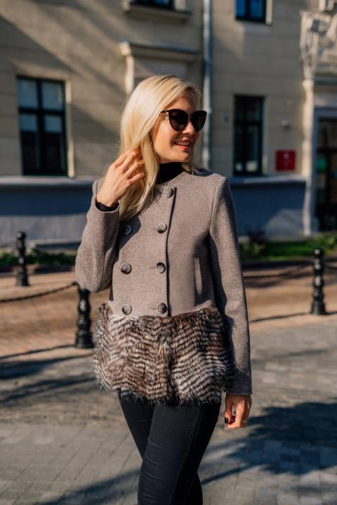 Пальто Azzara 3071 серый