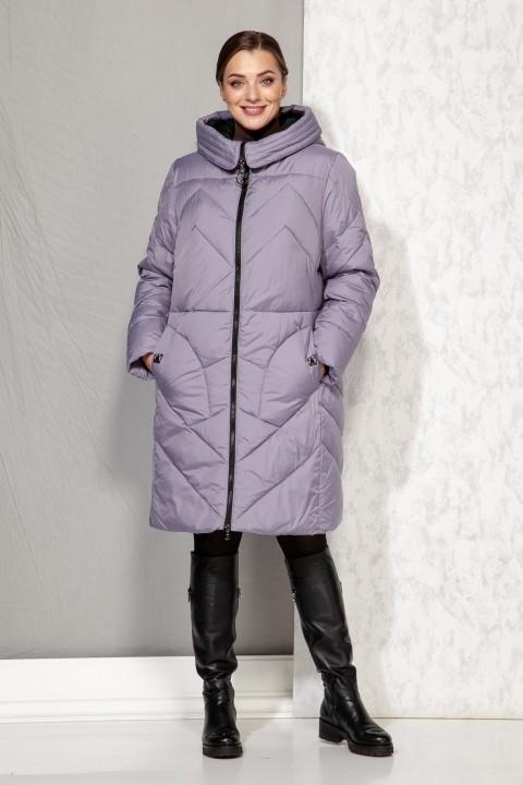 Пальто Beautiful&Free 4069 сиренево-голубой