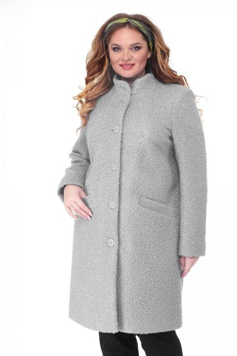 Пальто БелЭльСтиль 786 светло-серый