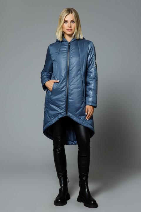Пальто DiLiaFashion 0516 серо-синий