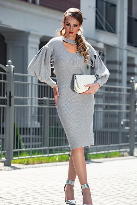 Платье Дива 1314-1 серый