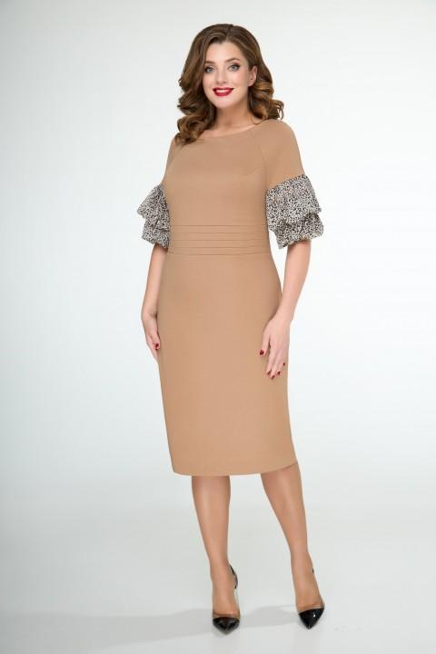 Платье ELVIRA 105 карамельный