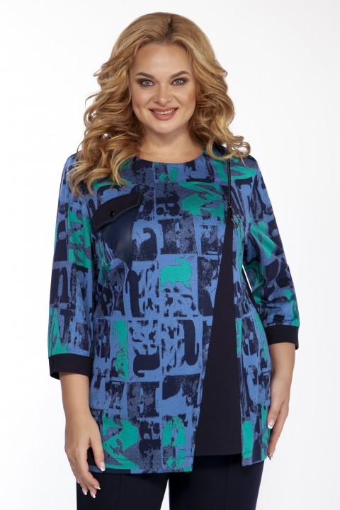 Блуза EMILIA STYLE 2099 синий