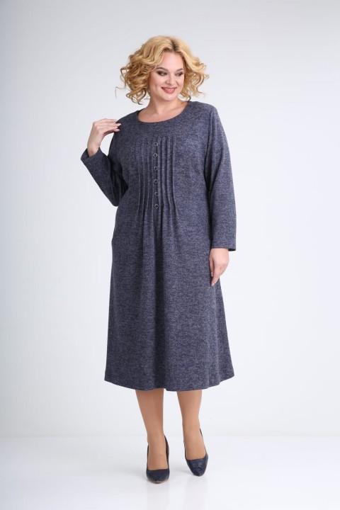 Платье Emilia 0224 синий