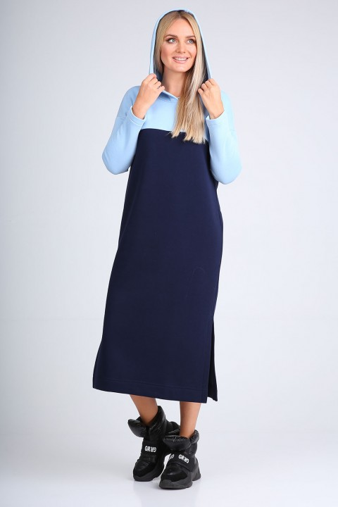 Платье FloVia 4103 сине-голубой