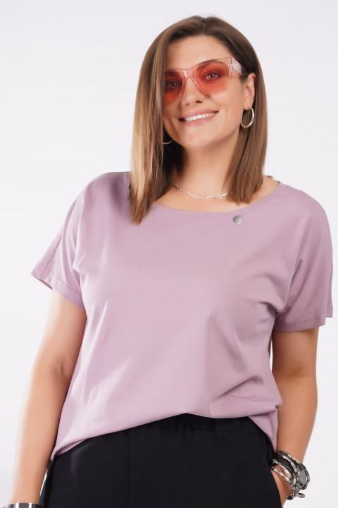 Блузка GRATTO 4126 бледно-лиловый