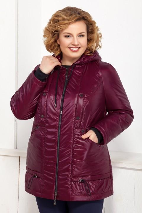 Куртка Ивелта плюс 873 темно-бордовый
