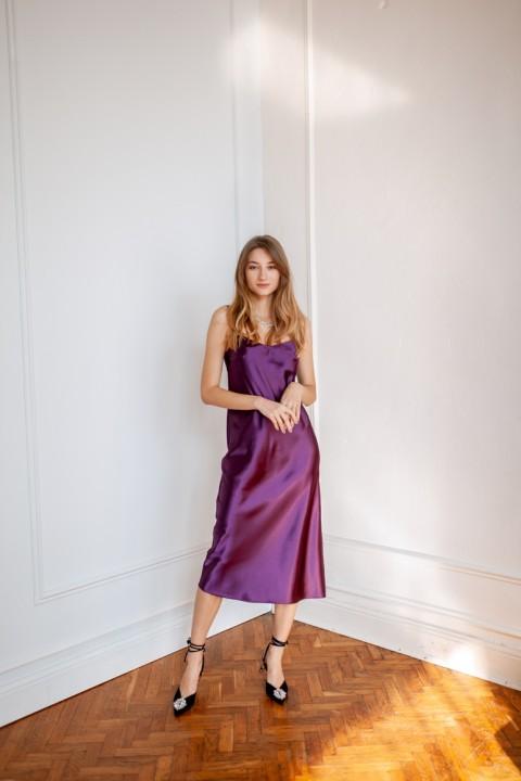 Платье KRASA МБ0121-21 ежевика