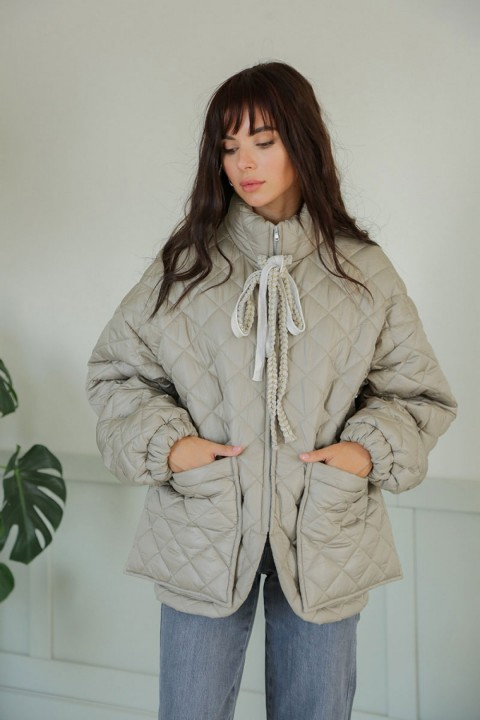 Куртка ЛадисЛайн 1388 светло-серый