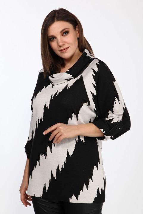 Блузка LadyStyleClassic 2333/2 черный с молочным