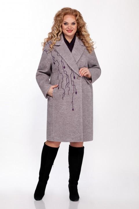 Пальто LaKona 1340 лиловая дымка