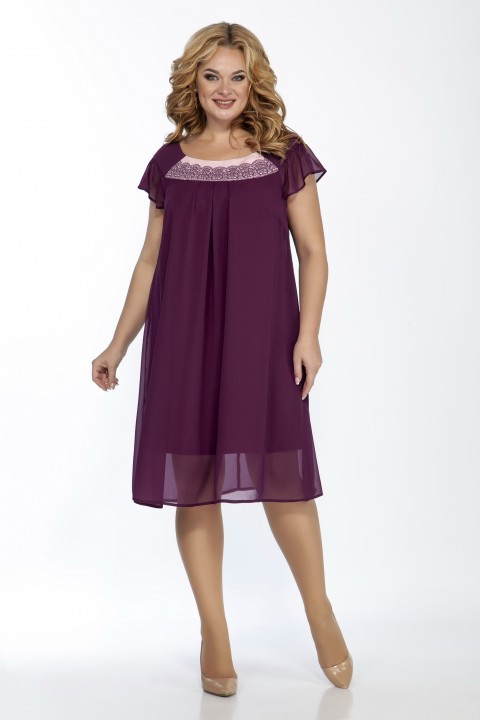 Платье LaKona 1389 сливовый